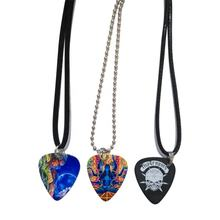 durable electric guitar pick punch keychain necklace gift