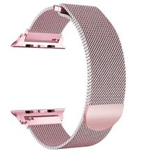 Metal Watch Strap for iWatch Band 18mm Milanese Loop Stainless Steel Magnetic Strap Mesh Watch Bracelet for iWatch 44mm 40mm