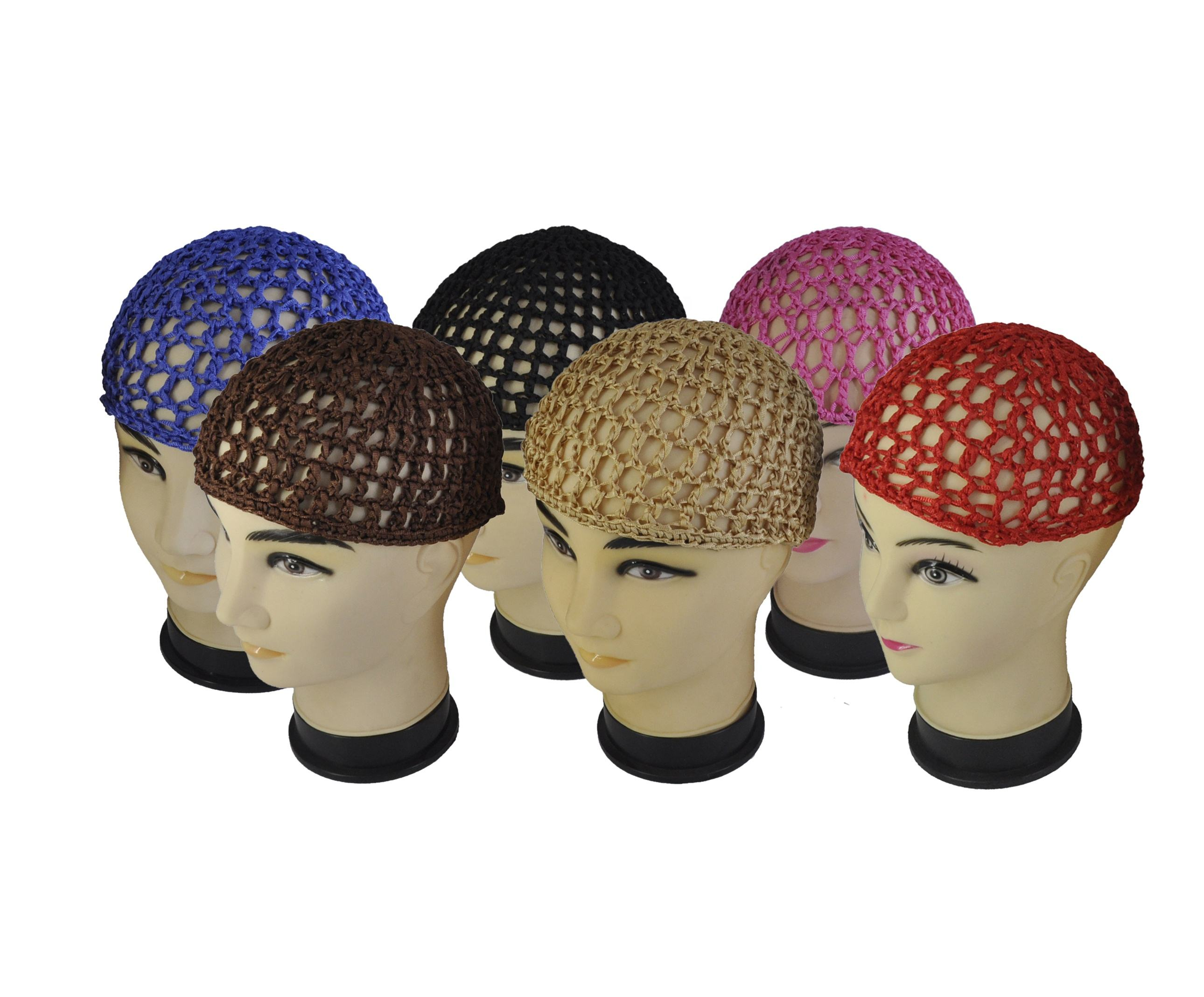 Well Sell Different Color Soft Knitted Rayon High quality hair Net For Men And Women