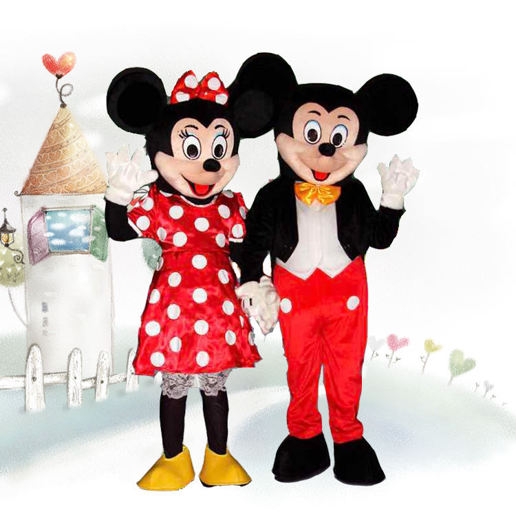 Dessin animé adulte mickey & minnie taille réelle mascotte cosplay costumes