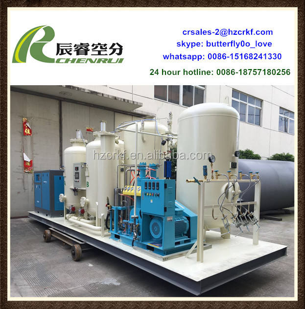 High power oxygen generator filling plant physics apparatus