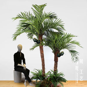 Kunstmatige Outdoor Coconut Palm Tree Plastic Tall Tree Voor Winkelcentrum Indoor Decoratie
