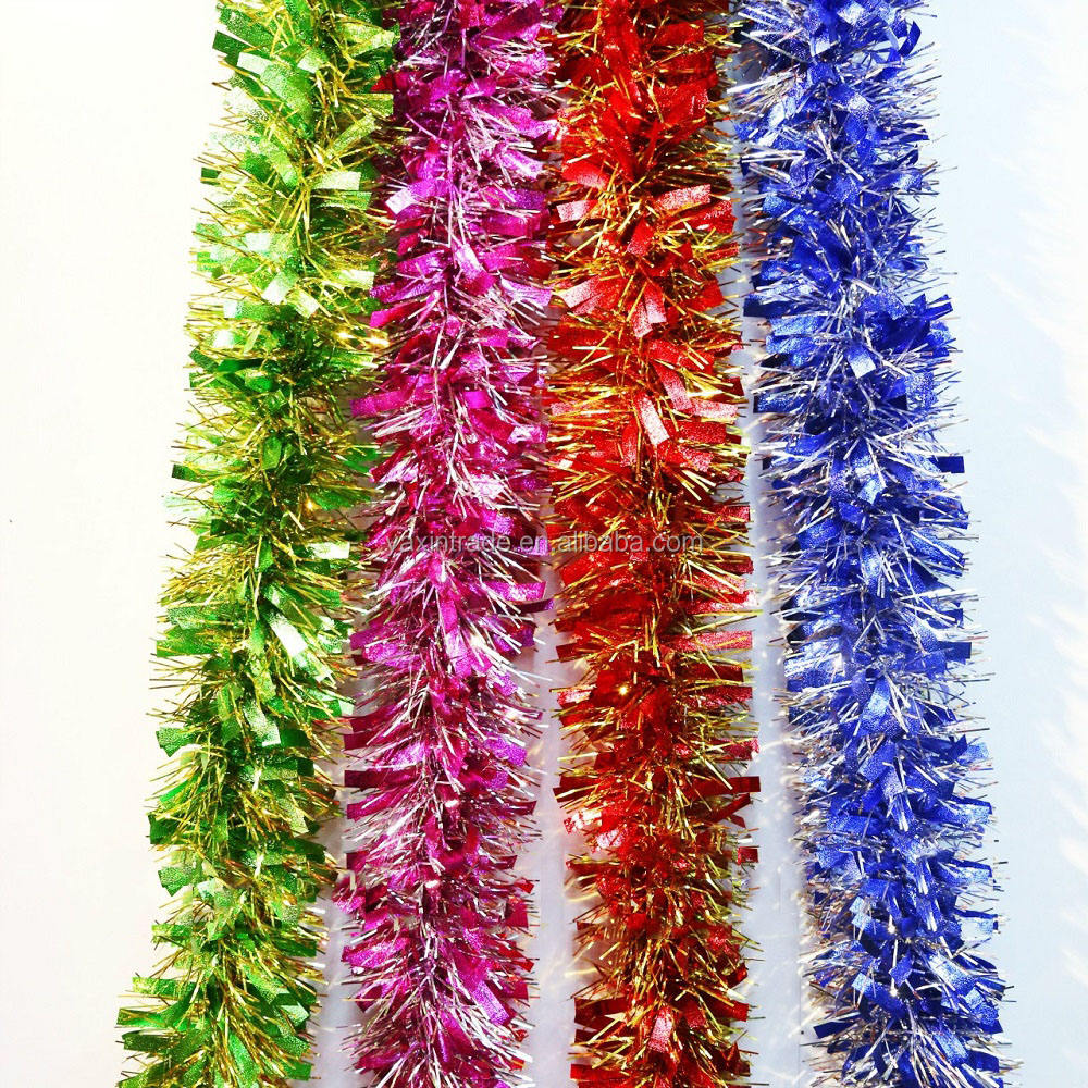 Hot sale New products Christmas tree decorations glitter Garland party Tinsel Garland
