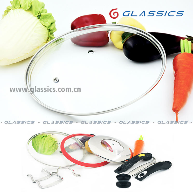 tempered glass lid glass cover silicone glass lid cooking pot lid handles and knobs for fry pan sauce pan pot casserole