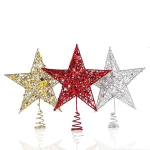 New Design Decorative Metal Christmas Star Tree Topper for Christmas decoration
