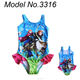 2017 Cartoon China wholesale cheap prices children swimsuits models