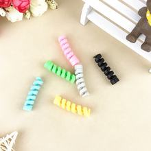 Colorful Silicone Data Line Charger Spiral USB Cable Protector