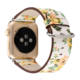 Flower Strap SIKAICASE Custom Your Own Artwork Low MOQ Flower Print Watch Leather Strap 38/42/40/44 MM Watch Band