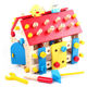 china supplier education baby building blocks children's urban traffic house logo wooden block