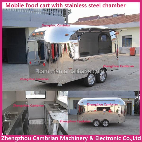 Mobile fast food truck food cart designer with fried ice cream machine