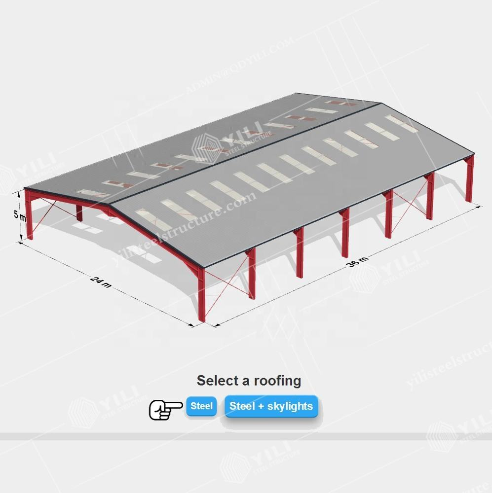 Australia standard structural steel of steel structure workshop / warehouse building AS4100 supply 3D drawing