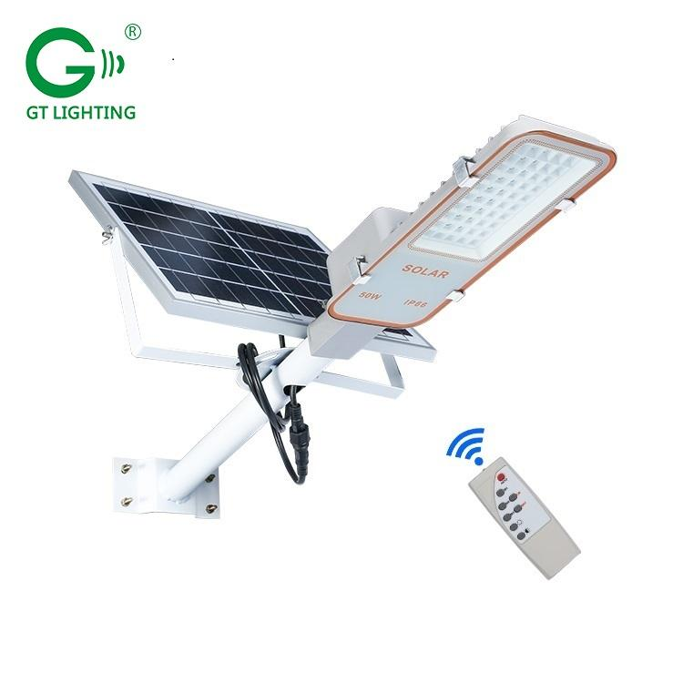 High efficiency aluminium fixtures ip66 waterproof outdoor 24w 50w 70w 100w solar led street lighting