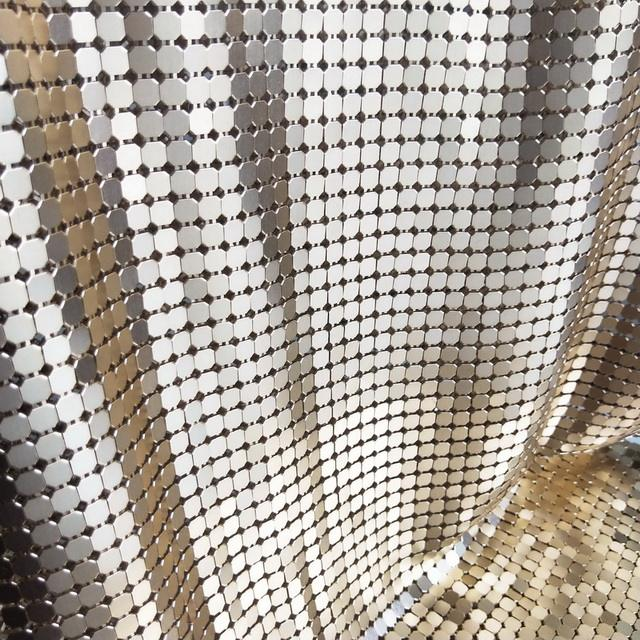 8 MM High Quality Metal Chain Link Curtain Fabric Aluminum Sequin Mesh Chain Mail Curtains