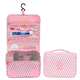Pink polyester hanging travel accessories good quality toiletry bag for women