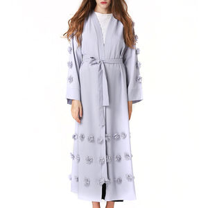 Fashion wholesale price muslim kaftan abaya dress for women HSZ7009