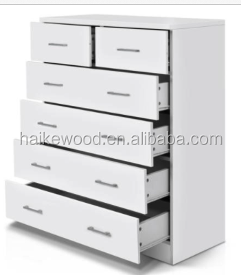 living room/bathroom 6 drawers wooden chest of drawer design storage cabinet