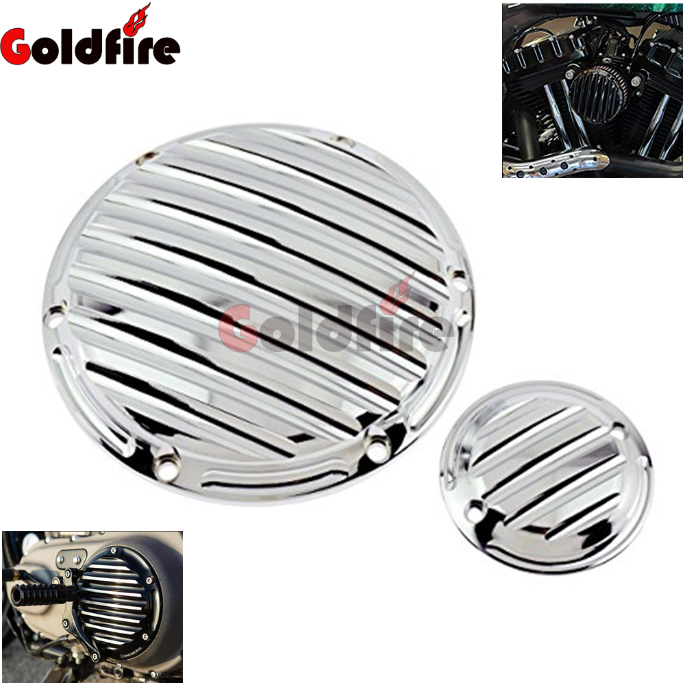 Goldfire Motorcycle CNC Cut Derby Timing Timer Covers Cover Compatibility for Harley Sportster XL883 XL1200