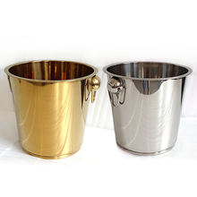 Mirror polished stainless steel champagne bucket wine metal ice bucket