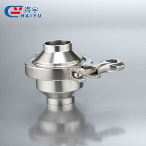 Hygienic clamped food grade stainless steel sanitary welded check valve