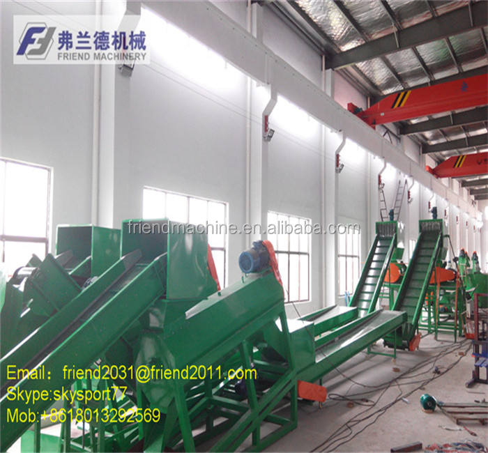 Pet-fles afval plastic recycling machine