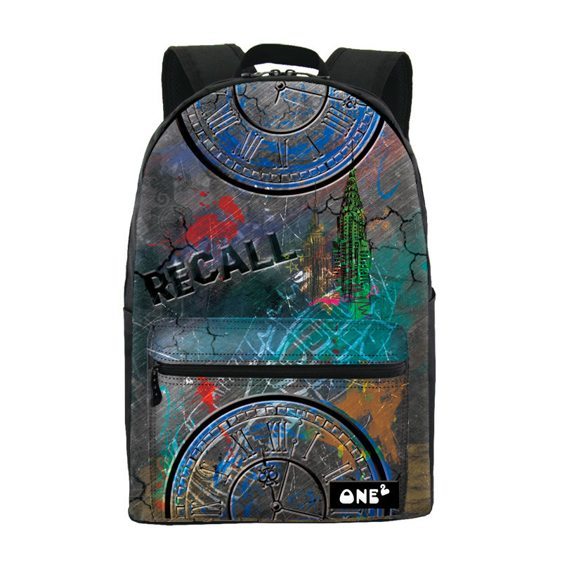 ONE2 design beautiful pattern chinese school backpack
