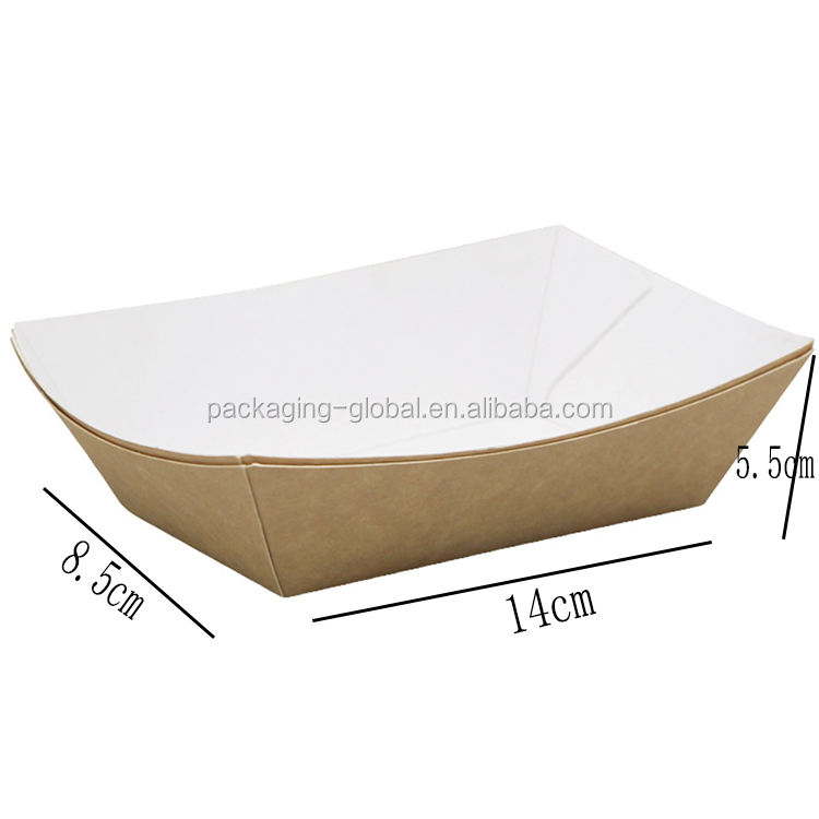 New products Custom Disposable Paper Food Tray for sushi/snack/waffle
