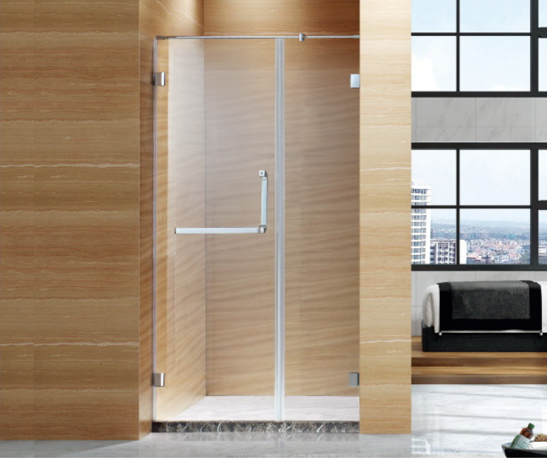 Foshan factory outward free opening glass door shower enclosure