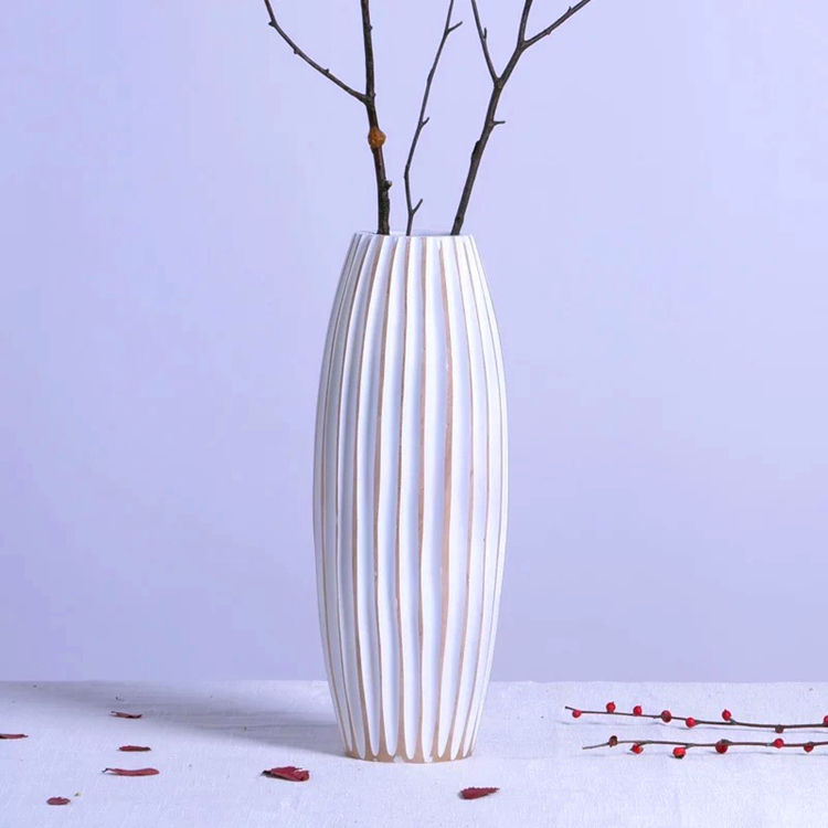 One-Stop Service Custom Collins Mango Wood Vases Natural Wood Flower Vases Home Decor