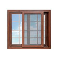 New design wholesale price wood color pvc window grills design for sliding windows