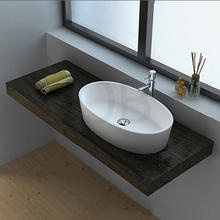 Euro design cheap oval vanity sink bathroom