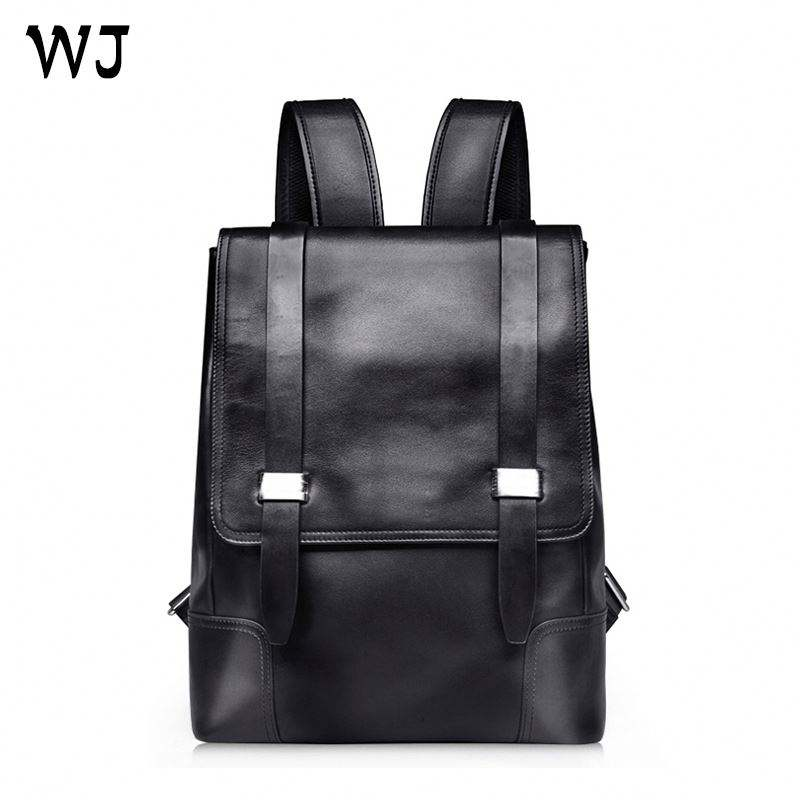 China Manufacturer Hot Sales Genuine Leather Young Men Laptop Backpack Sample