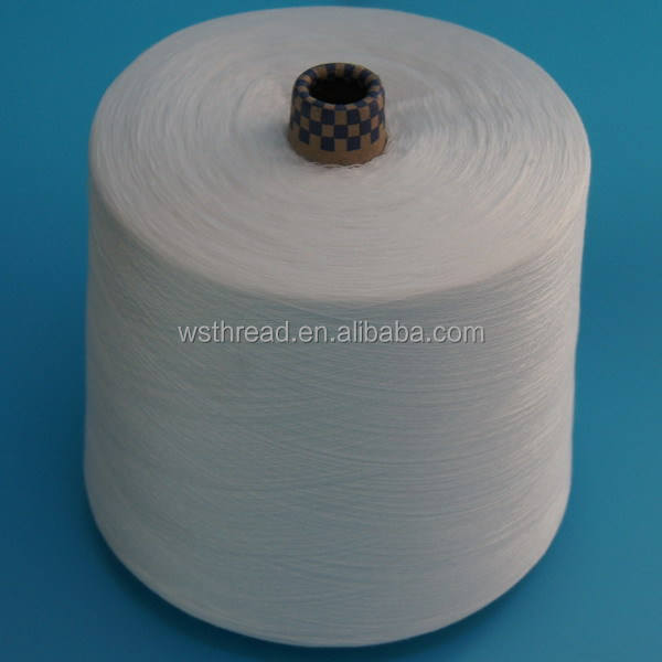 202 big cone high tenacity virgin white chinese polyester sewing industrial thread