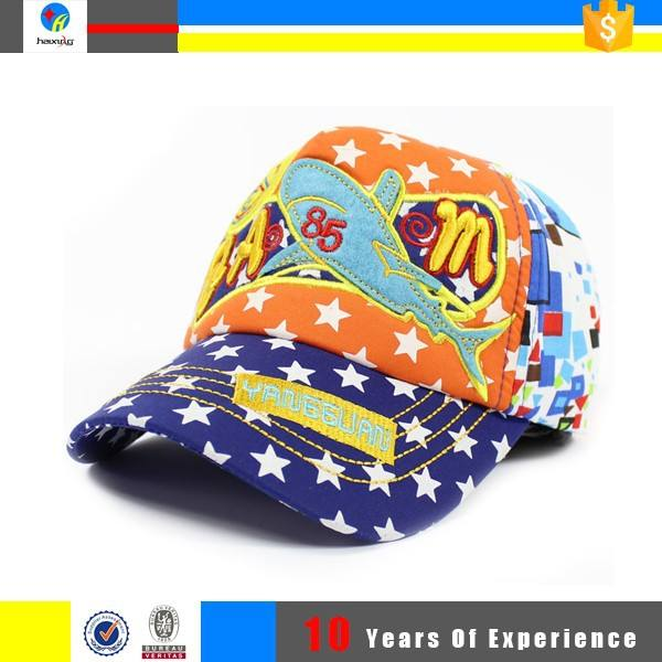 Дети мода дешевые напечатаны бейсбол шляпы и шапки