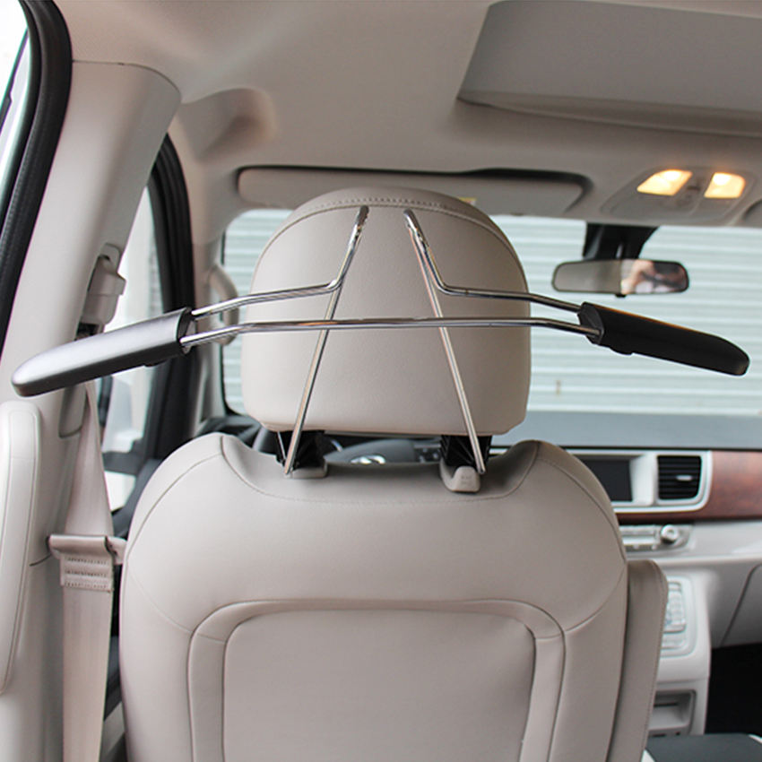 2Pcs Bling Crystal Diamond Rhinestones Car Vehicle Back Seat Headrest Hidden Hook Hanger Storage for Bag Handbag Purse Cloth Coat Grocery