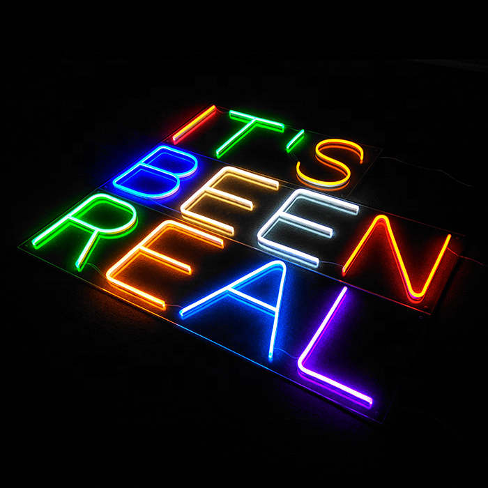 Multicolor bar showcase 3D outdoor flexible acrylic custom neon beer sign letters led custom neon signs