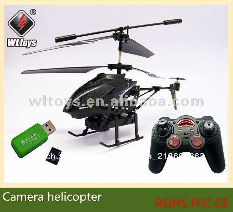 Wl jouet. s977 2.4g 3.5ch radio control rc hélicoptère avec caméra