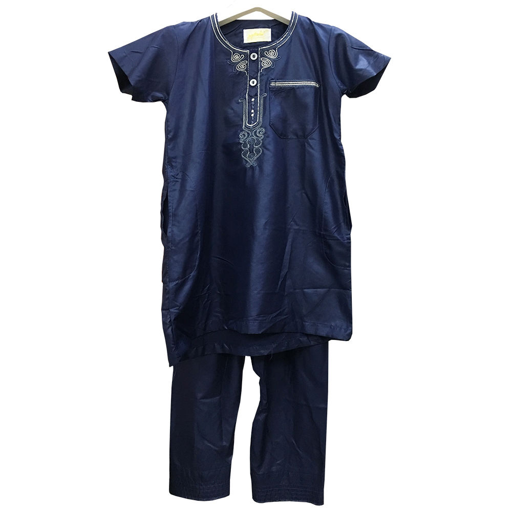 Hot Sell Islamic Boys clothing T-shirt Plus Pant Set Suit Wear Thobe