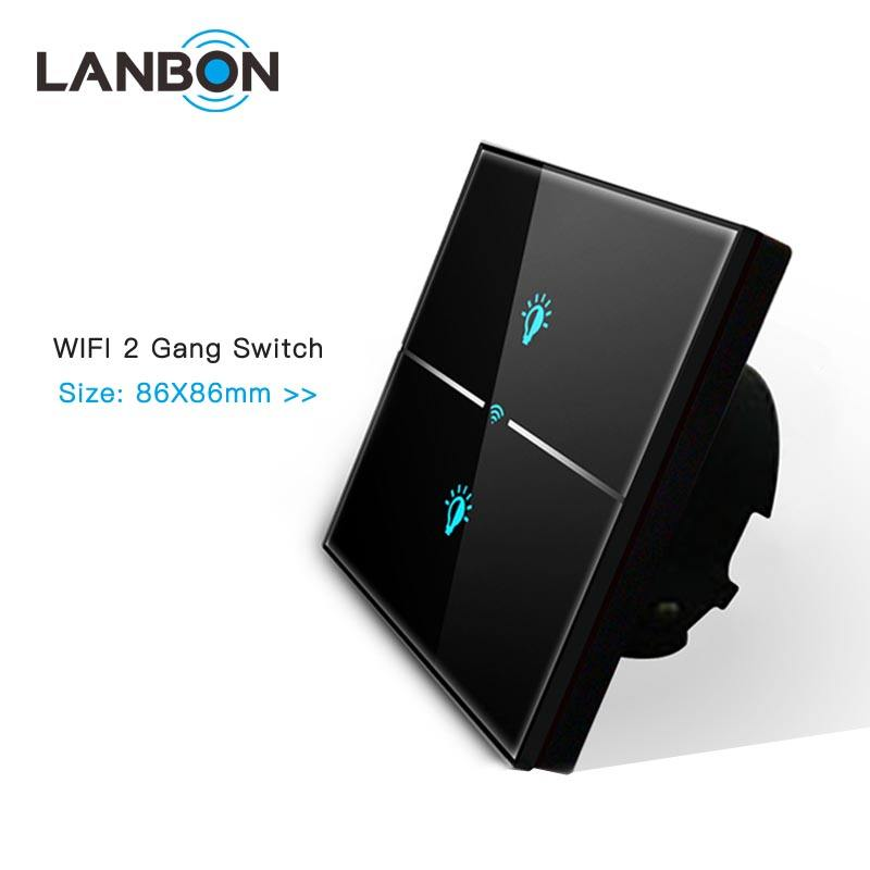 Lanbon 지능형 WiFi Touch 벽 Smart 빛 Switch <span class=keywords><strong>앱</strong></span> remote 대 한 Smart 홈 자동화 support 알렉사 및 Google 홈