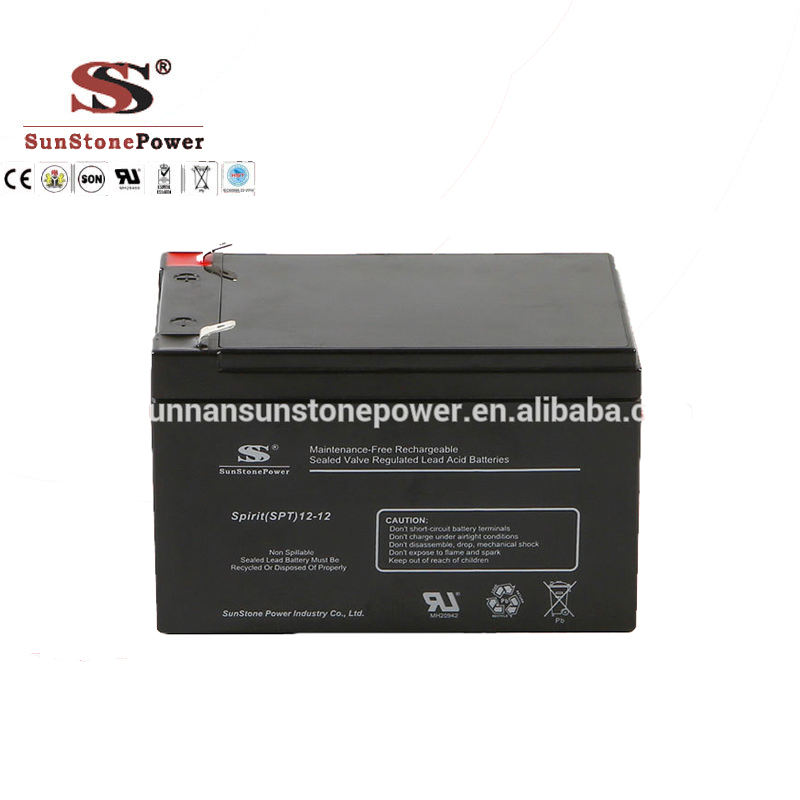 Rechargeable Lead Aicd 6-dzm-12 AGM Dry Cell VRLA UPS Battery