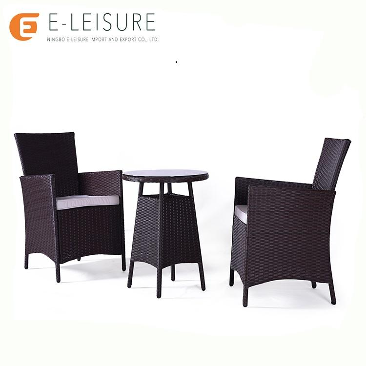 Leisure life outdoor rattan furniture luxury dining table chairs