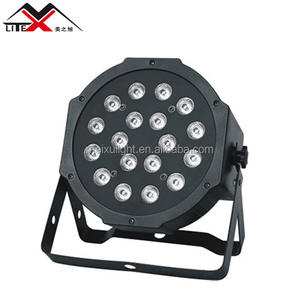 Hot selling dmx control rgb party 18pcs stage led flat par can light