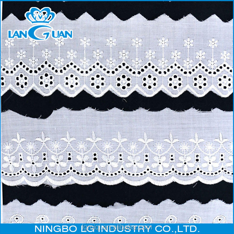 T/C lace embroidered border trims