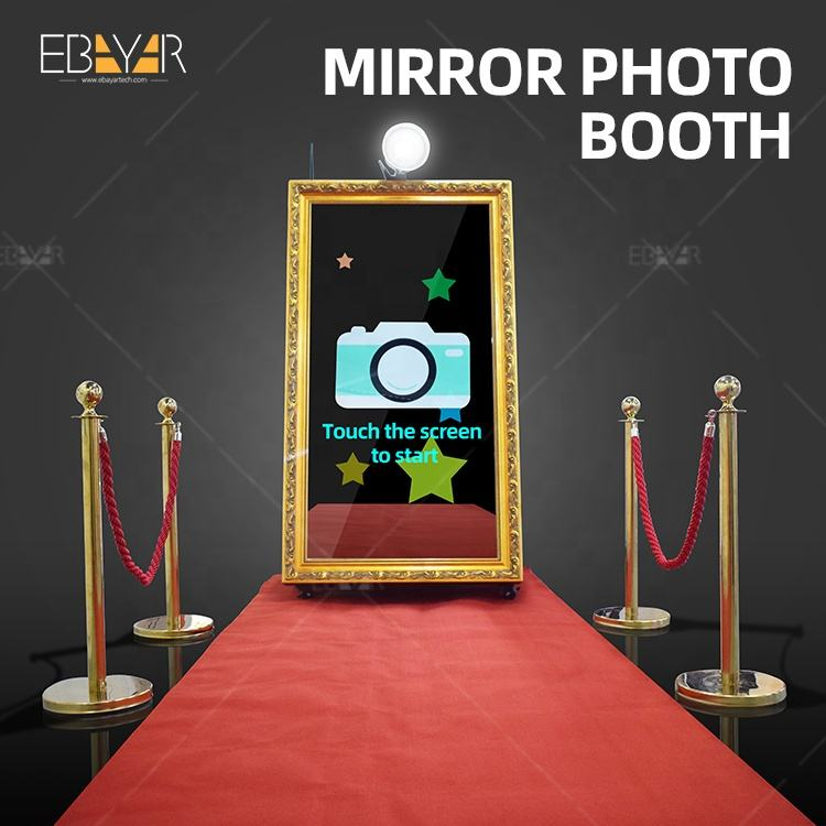 Mirror Photo Booth Advertising Monitor Customize Photo Printing Kiosk OEM Vending Portable Photo Booth