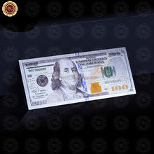 Wr Collectible Souvenir Gift Colorful 2011Year US $100 Dollar Currency 99.9 Sliver Plated World Banknote