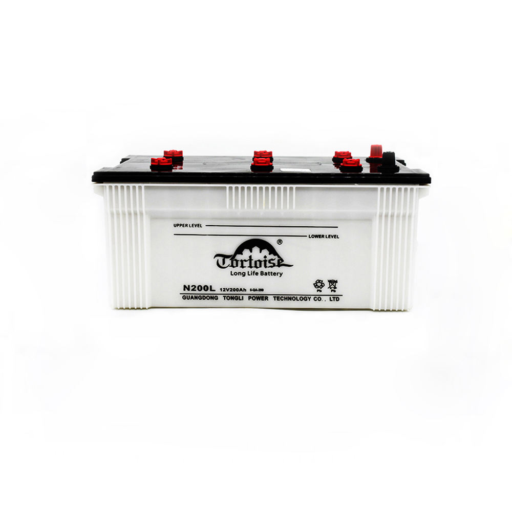 12v 200ah Dry Charged rechargeable lead acid battery car battery
