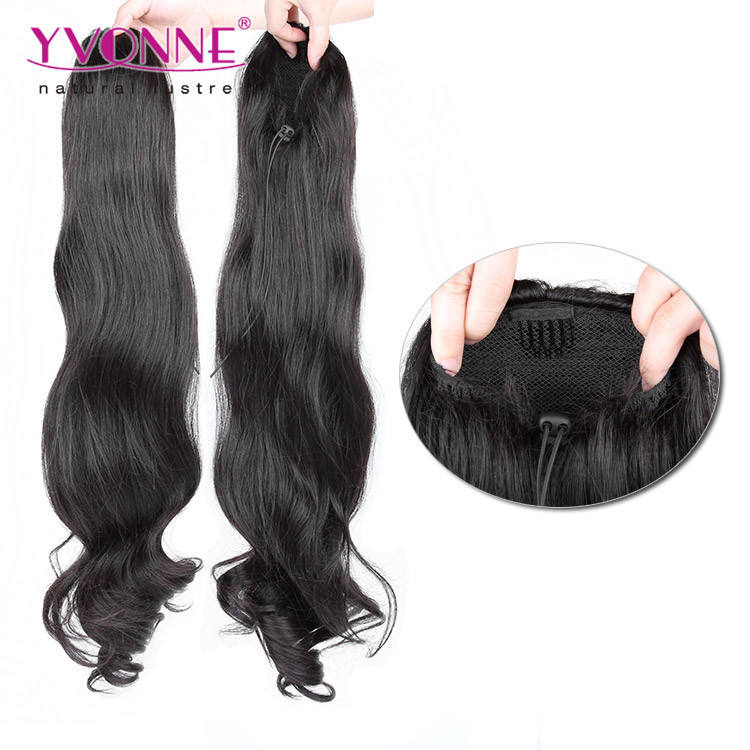 2019 new Yvonne long drawstring body wave human hair ponytail