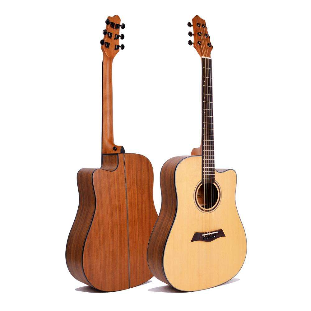 Quality solid top satin wholesale acoustic guitar