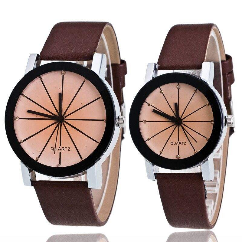 Valentine's Day His and Hers Couples Watches Set- One Pair Men and Women Quartz