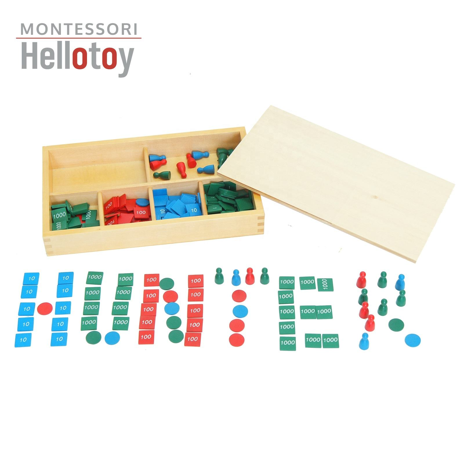 Montessori Educational Toys Stamp Game