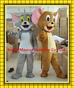 Sm 305 2014 caliente tom& jerry traje de la mascota/adulto tom jerry& mascota de dibujos animados